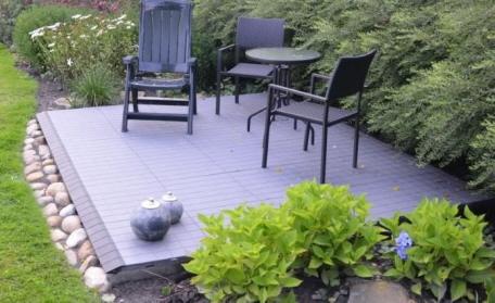 Terrasse neu anlegen mit expo dekor bodenplatten for Dekor im garten